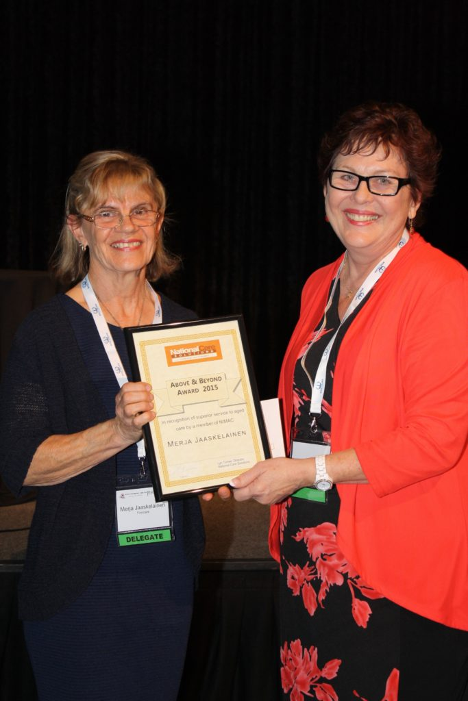 NATIONAL CARE SOLUTIONS ABOVE AND BEYOND AWARD 2015